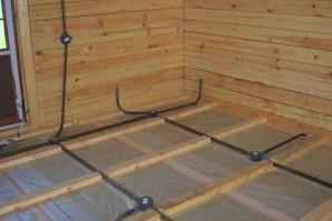 Электромонтаж проводки и освещения в бане или сауне