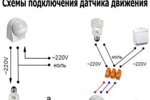 Установка светильника с датчиком движения
