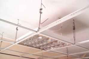 Монтаж светильников в подвесные потолки