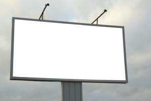 Освещение рекламного щита