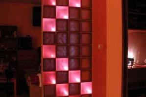 Стеклоблоки — освещение в стиле тетрис