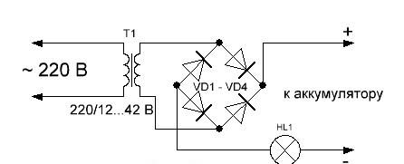 Как сделать простейшее зарядное устройство на 12в