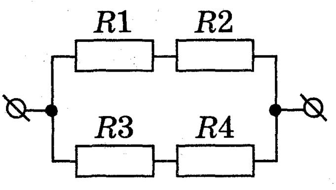 Как определить общее сопротивление резистора в электрической цепи?