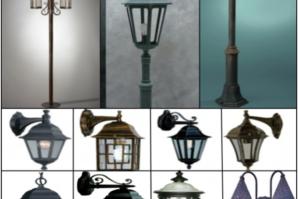 Уличные светильники: виды и особенности монтажа