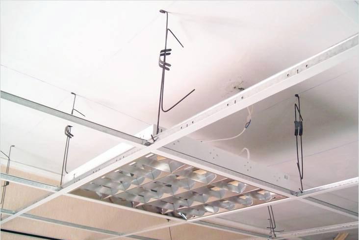 Светильник для потолка типа Армстронг. Установка и подключение